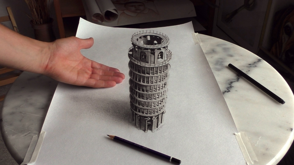 3D Painting Pisa Tower