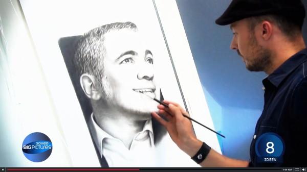 Galileo Stefan Pabst zeichnet Moderator
