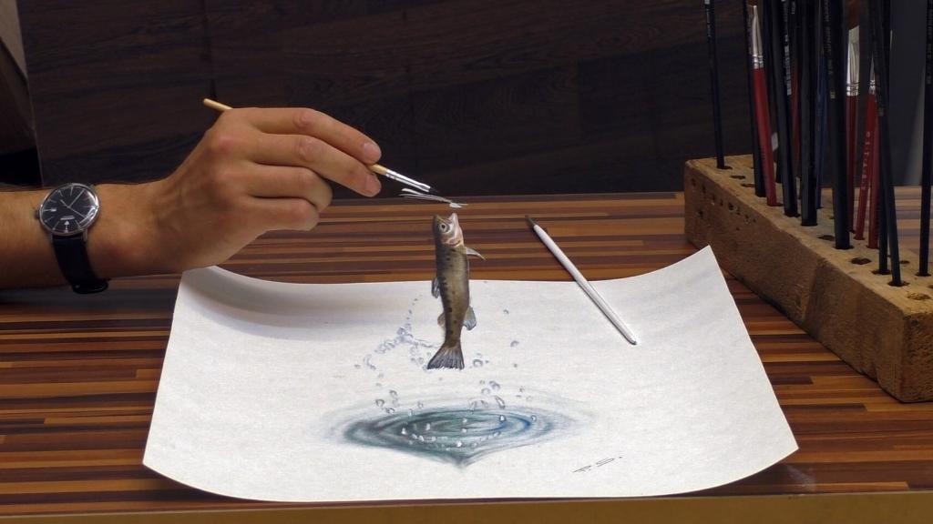 3D Zeichnung Fisch