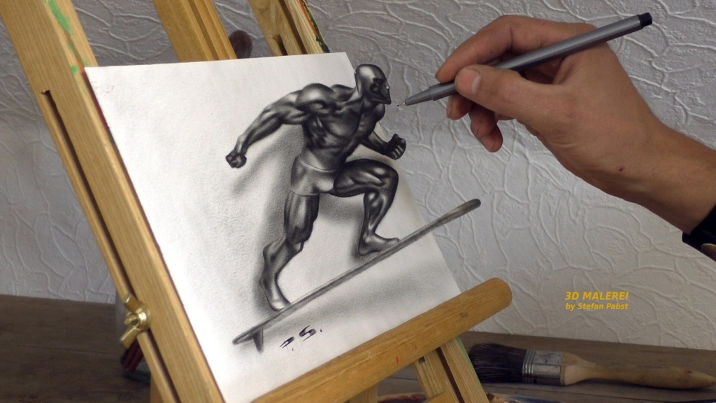 3D Painting Silver Surfer