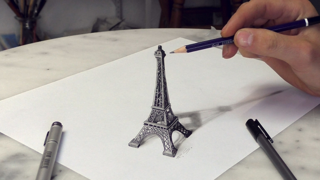3D Painting Eiffel tower