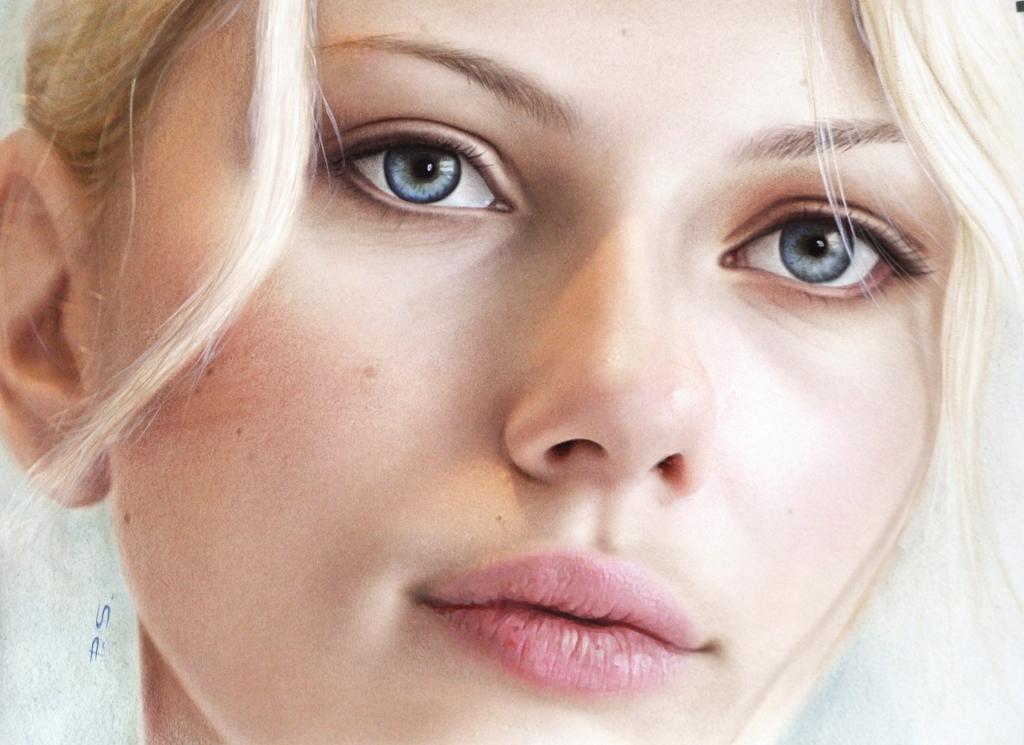 Portrai Zeichnung Scarlett Johansson