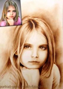 Mädchen gemalt vom Foto