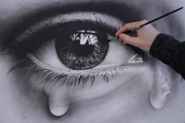 realistische Zeichnuig Auge