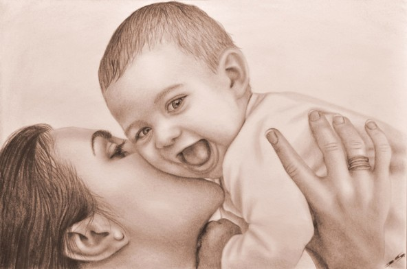 Kinderportrait wirkt in Sepiafarbe