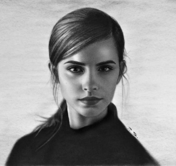 Portraitzeichnung vom Foto /Emma Watson