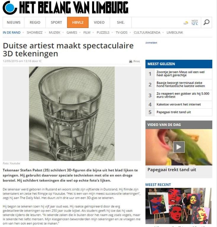 belgischer Zeitungsartikel