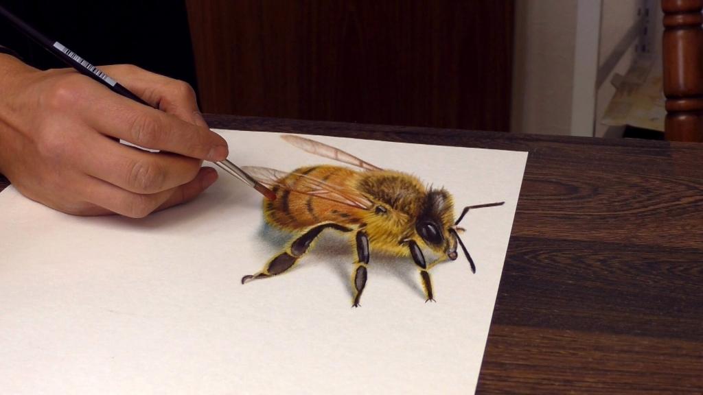 3D Zeichnung Biene