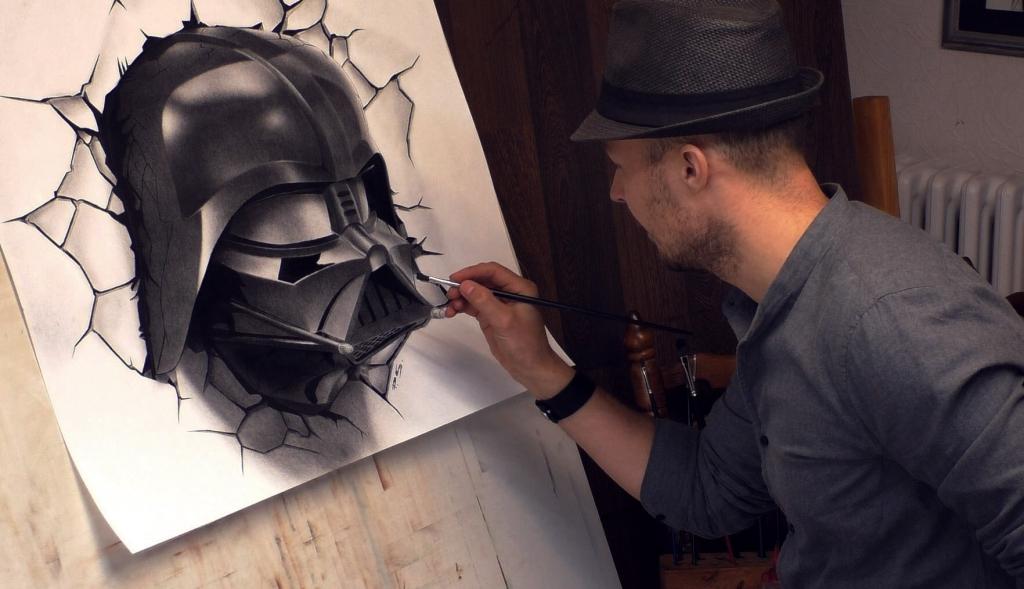 3D Zeichnung Darth Vader