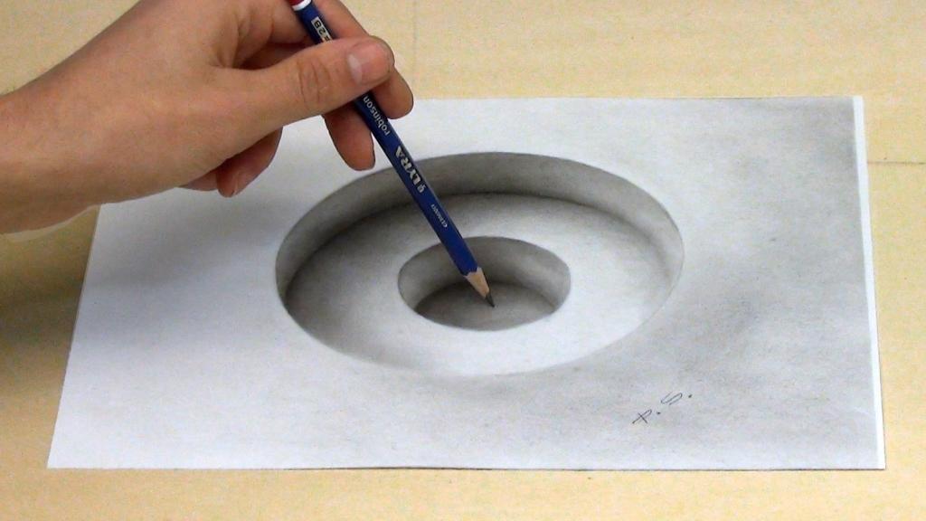 3D Malerei optische Illusion Loch