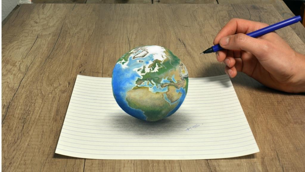 3D Zeichnung Erde