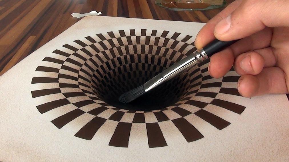 3D Zeichnung optische Illusion
