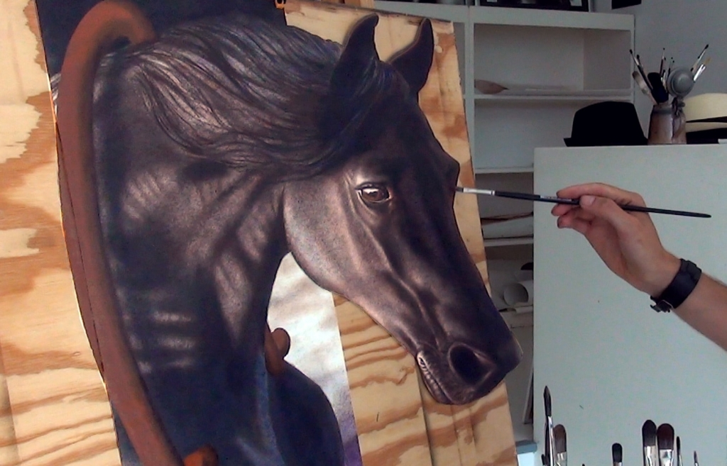 3D Paining horse