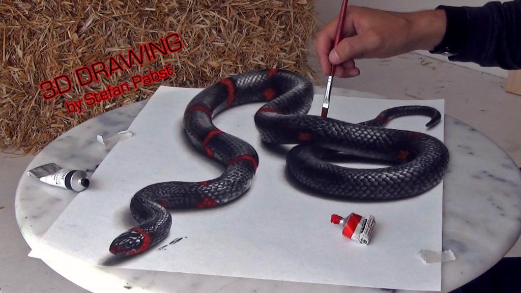 3D Zeichnung Schlange