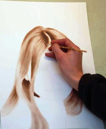 Malen der Haare
