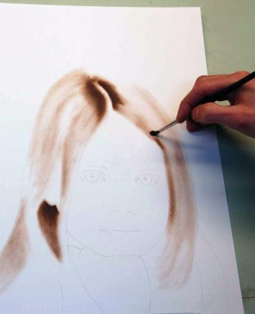 Gesicht skizzieren