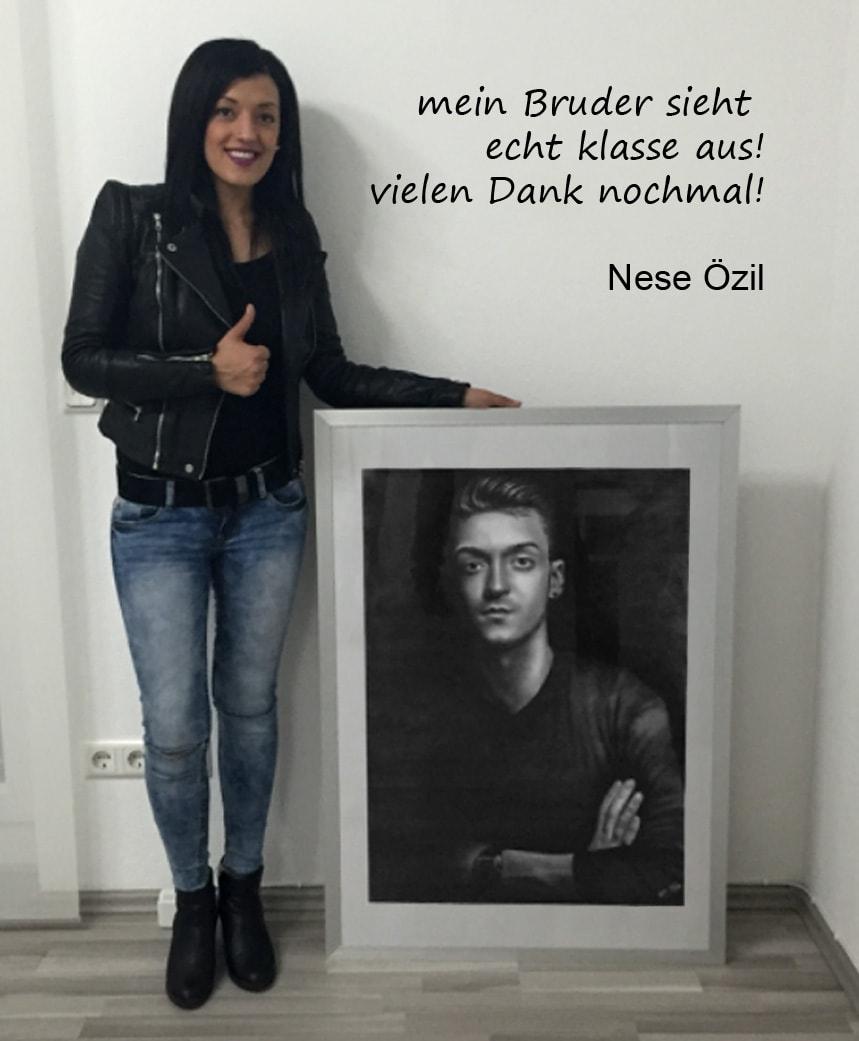 Portrait nach Foto Danksagung Mesut Özil
